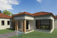 3 Bedroom House Plans South Africa | House Designs | NethouseplansNethouseplans House Plans For Sale, Free House Plans, House Plans With Photos, Garage House Plans, Double Storey House Plans, Double Story House, Small Modern House Plans, Beautiful House Plans, Three Bedroom House Plan