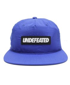 8bf4d977b37 Undefeated - Sport Nylon Snapback Cap (Blue)