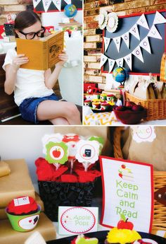 I love this idea!  A back-to-school party and book exchange!