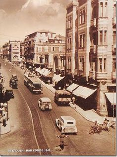 Beyrouth Bab Edriss 1949, old photos of Lebanon rare photography