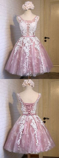 Uhc0044, short homecoming dresses,lace homecoming dresses,pink homecoming dresses,short prom dresses,simple homecoming dresses