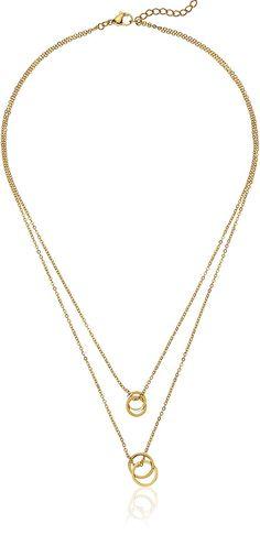 MANZHEN Fancy Gold Silver Crescent Moon Chain Link Bracelet for Women