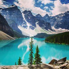 Lago Moraine, Canadá. #viatorpt #turismo
