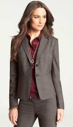 For statement jewelry in a business casual office, follow the lead of the senior people in the office Follow us for more inspiration and ideas on the latest skirt fashion! http://www.pinterest.com/ritaandphill