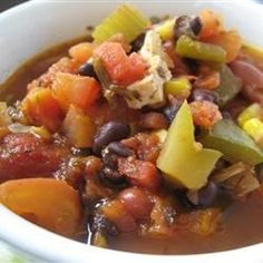 "The Best Vegetarian Chili in the World | ""For those who find it too hot, serve over rice."""