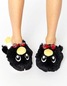 3d5b5b5330b00 New Look Penguin Slippers Holiday Wear