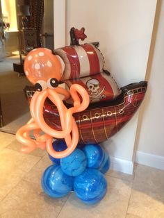 Pirate party balloon decor by Kevin @ Premier Balloons Jack The Pirate, Pirate Baby, Pirate Birthday, Pirate Theme, Pirate Party Decorations, Balloon Decorations Party, Balloon Centerpieces, 6th Birthday Cakes, 6th Birthday Parties