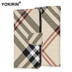 Luxury Plaid Pattern PU Leather Wallet Case Cover for iphone 6 Plus Protective Phone Pouch Bag With ID Card Stand Holder Pu Leather, Leather Wallet, Pouch Bag, Plaid Pattern, 6s Plus, Tela, Cases, Name Badges, Iphone 6 Cases