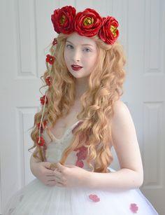 Pretty flower crown. Angela Clayton creation <3