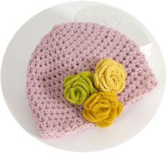 988589030b01 Tuto DMC bonnet à fleurs pour petite fille sage en Natura XL - En quête de  fil