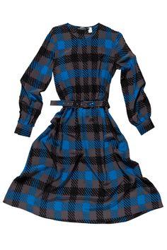 Herringbone | Womens | Womens Dress | Tribeca Silk Womens Dress | Cobalt | 100% Silk