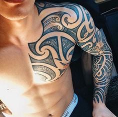 marquesan tattoos between breastbone Tribal Shoulder Tattoos, Tribal Tattoos For Men, Tribal Sleeve Tattoos, Tattoos For Guys, Maori Tattoos, Marquesan Tattoos, Dope Tattoos, Body Art Tattoos, Tattos