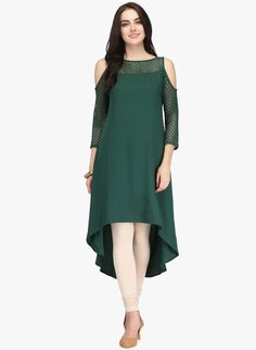 Cold shoulder kurti designs are ruling the current fashion scenario. We will be showing you the images of the latest cold shoulder kurti designs for women Stylish Dresses, Simple Dresses, Casual Dresses, Fashion Dresses, Off Shoulder Kurti, Cold Shoulder, Kurtha Designs, A Line Kurti, Simple Dress Pattern