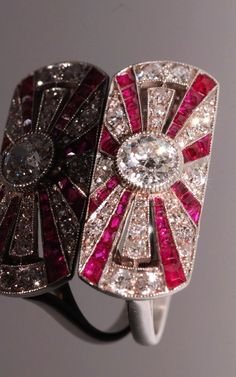 Art Deco Ruby and Diamond Ring.