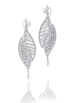 Stefan Hafner white gold and diamond 'Chopin' earrings http://www.stefanhafner.com/