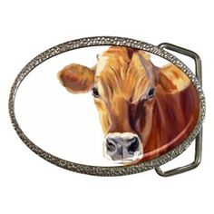 Oma's Dairy Farm Gifts Jersey Cow Belt Buckle $19.99