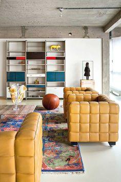 Stylish Colourful Design Of An Contemporary Belgium Loft by Studio Job.