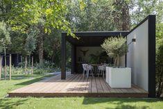 Pergola Ideas For Patio Backyard Ideas For Small Yards, Small Backyard Patio, Pergola Patio, Backyard Landscaping, Backyard Designs, Pergola Ideas, Patio Ideas, Contemporary Garden, Outdoor Living