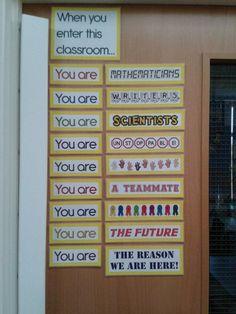 When you enter this classroom…