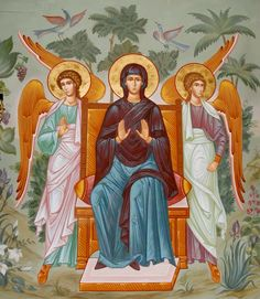 Theotokos enthroned with the Angels