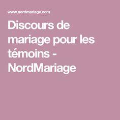 Discours de mariage pour les témoins - NordMariage