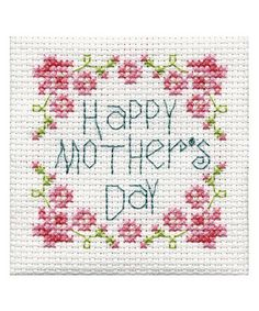 Love this 'Happy Mother's Day' Mini Cross-Stitch Kit on #zulily! #zulilyfinds