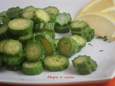 Zucchine al limone - contorno semplice