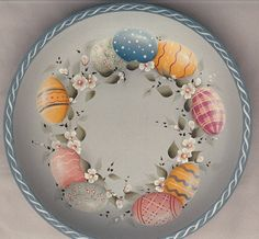 Easter egg bowl...can also do a plate.