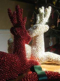 Holiday Beaded Reindeer Tutorial ~ Christmas Craft