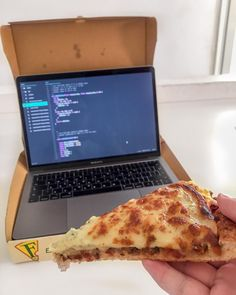 Wouldnt be great to order pizza and end up with a MacBook ? Btw this pizza was really good. //codeEverywhere();