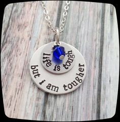 Colon Cancer awareness necklace Breast Cancer by ThatKindaGirl