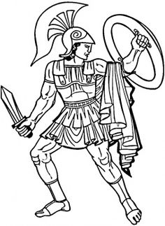 Greek Warrior - This site has many different coloring pages for all sorts of things!