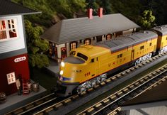 Find It Locally http://www.mthtrains.com/30-20252-1 Now arriving MTH RailKing O Gauge Union Pacific E6 AA Set item 30-20252-1. This Union Pacific E6 Set operates on O-31 Curves and have a MSRP of $369.95. Ask your MTH Dealer about a RailKing Diesel Today. Use the link above to Find It Locally at a MTH Dealer.