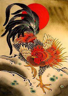 Year of the Rooster (japanese rooster)
