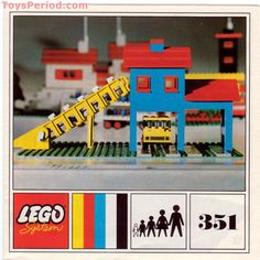 View LEGO instructions for Gravel Depot set number 351 to help you build these LEGO sets Old Lego Sets, Lego Technic Sets, Classic Lego, Birthday Money, Lego 4, Lego System, Vintage Lego, Lego Projects, Coal Mining