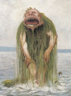 Theodor Kittelsen - The Water Troll Who Eats Only Young Girls