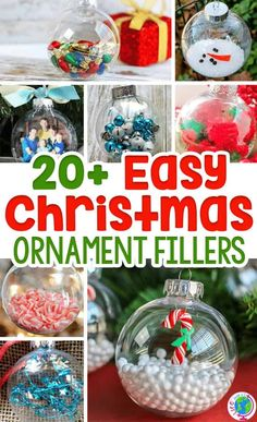 Clear ornaments make the perfect canvas for so many Christmas crafts and fun ornaments! Kids can help you make these fun ornaments from Life Over C's that will quickly turn into keepsakes! Try making these fun and festive Christmas ornaments with your kids this holiday season! #diy #ornament #christmascrafts #kids #christmas #crafts