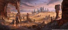 Concept Art: Alik'r-Wüste