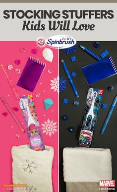 Save the best for last with kid-approved stocking stuffers like these ARM & HAMMER™ Spinbrush™ battery-powered toothbrushes. Grant every wish with Shimmer & Shine or join the fight against plaque with Marvel's Black Panther. Fight cavities the fun way wit Homemade Christmas Gifts, Christmas Crafts For Kids, Christmas Love, All Things Christmas, Holiday Crafts, Holiday Fun, Christmas Holidays, Christmas Decorations, Christmas Ideas