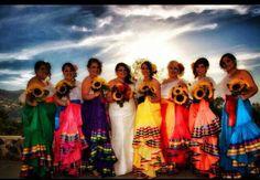 Unique idea...Mexican style bridesmaids.