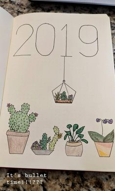 Bullet Journal Cacti and succulent designs. Bullet Journal # What Ar Bullet Journal Inspo, Bullet Journal Nouvel An, Bullet Journal Tracker, Bullet Journal Aesthetic, Bullet Journal Themes, Bullet Journal Ideas Pages, Bullet Journal Spread, Bullet Journal Layout, Bullet Journal Notebook