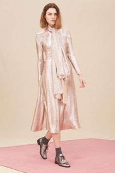 Hobbs_AW14_Debutante Lamé Dress and Scarf rose-gold lamé my new winter party dress