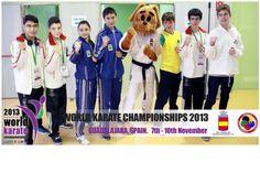 Nice photo with the brazilian's and the mascot Wkf Karate, World Championship, Cool Photos, Nice, Coat, Fashion, Moda, Sewing Coat, La Mode