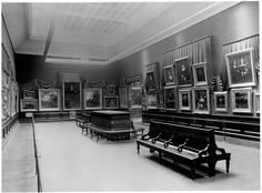 This photograph of the Marquand Gallery in the Paintings Galleries was taken circa 1907.