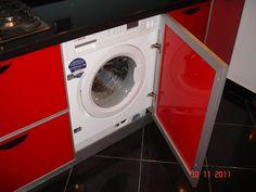 Mobila Bucatarie Rama Aluminiu cu Sticla Vopsita Masina Rufe Incastrabila Washing Machine, Home Appliances, House Appliances, Appliances