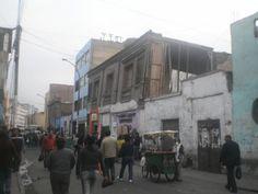 Casas por colapsar en Lima