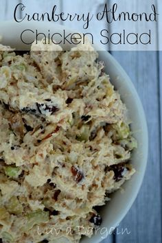 Cranberry Almond Chicken Salad -- I am in love with this recipe!