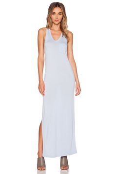 T by Alexander Wang Classic Tank Maxi Dress in Periwinkle | REVOLVE