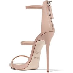 Giuseppe Zanotti Harmony patent-leather sandals ($665) ❤ liked on Polyvore featuring shoes, sandals, strappy shoes, patent leather shoes, high heel platform sandals, strap sandals and strappy platform sandals