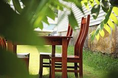 The family gathers around the table as children's laughter rings through the air. Even if these family dinners are only a memory — a treasure of the past — they are still precious recollections of the good, old days. #table #chairs #furniturefeature